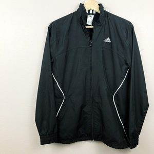 Adidas Drawstring Zip-Up Classic Track Windbreaker